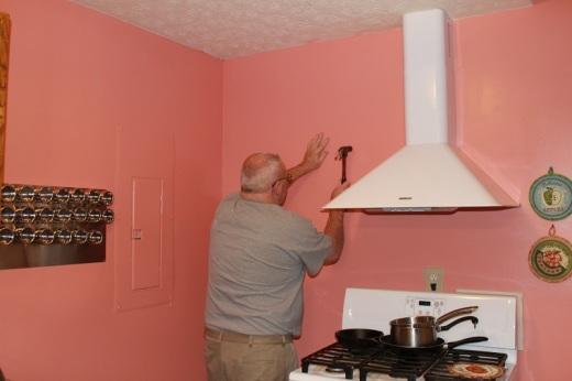 Installing the pot rack
