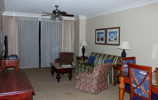 The comfortable living room,