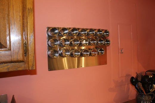 I love my magnetic spice rack