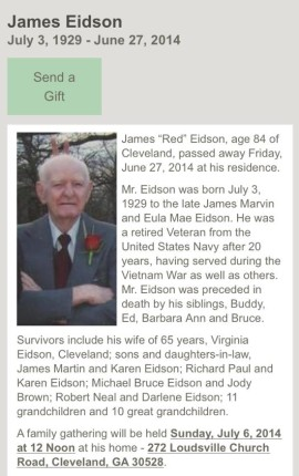 James R Eidson