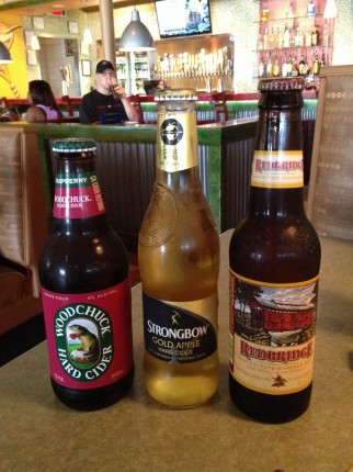 The three adult gluten free beverages.