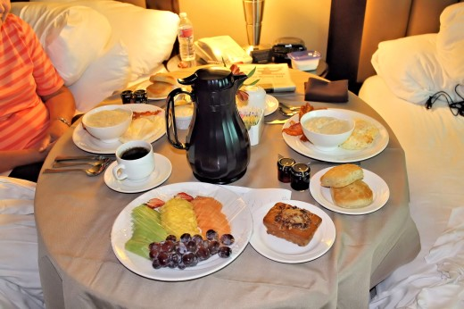 Room service breakfast!