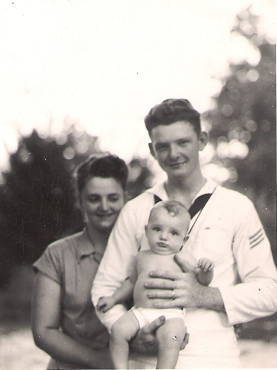 Nana with  my father-in-law and Fabgrandpa in July of 1949