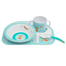 Wildlife Children's Dish Sets From Lassig Are So Cute!