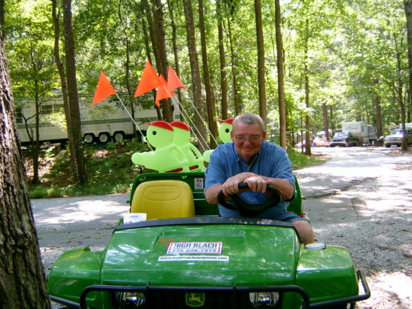 Fabgrandpa and friends working in the campground at Stone Mountain, Georgia in 2005