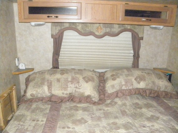 redecorating the RV bedroom