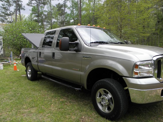 running boards, tonneau cover, ford f-250 4x4 lariat