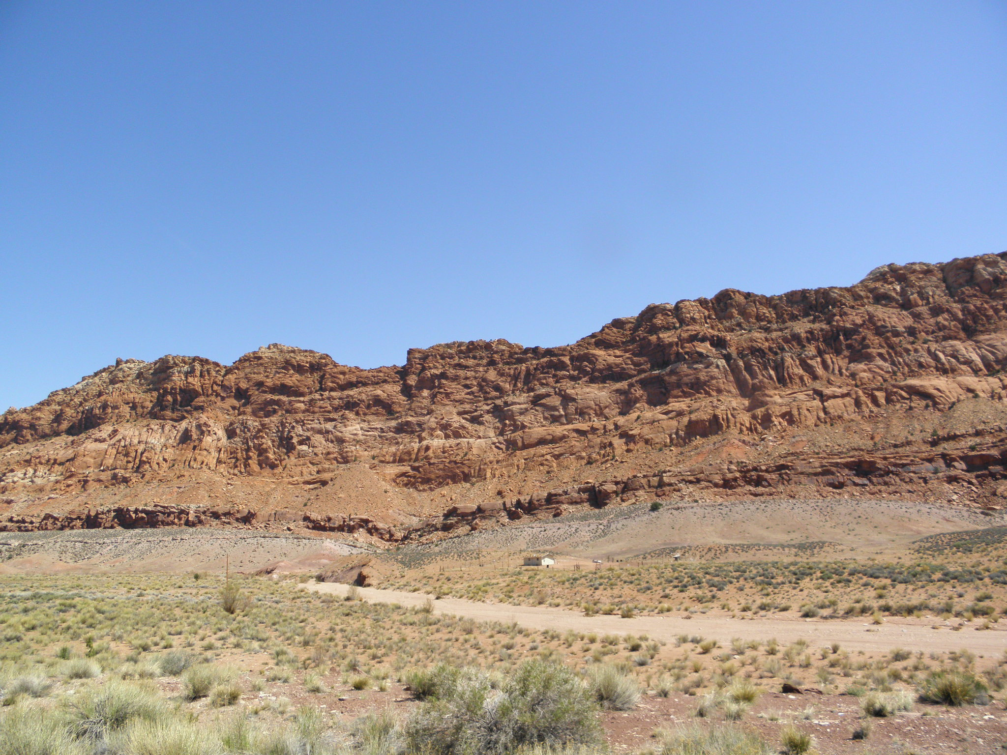Driving Through Marble Canyon In Arizona To The North Rim Of The Grand Canyon