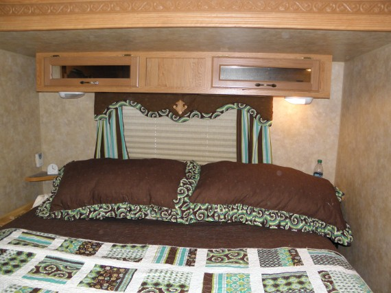 tutorial how to cover cornice boards in an rv