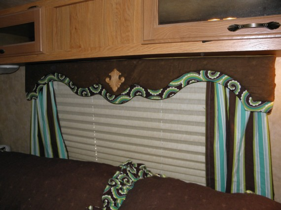 recovering an rv cornice board
