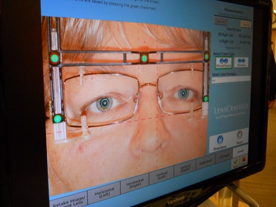 eyeglass matrix used for measuring your lens placement