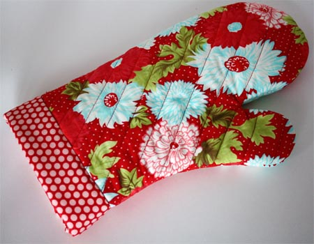 One hour oven mitt pattern