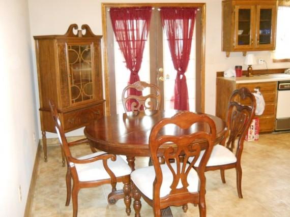 thrift store find, antique dining furniture