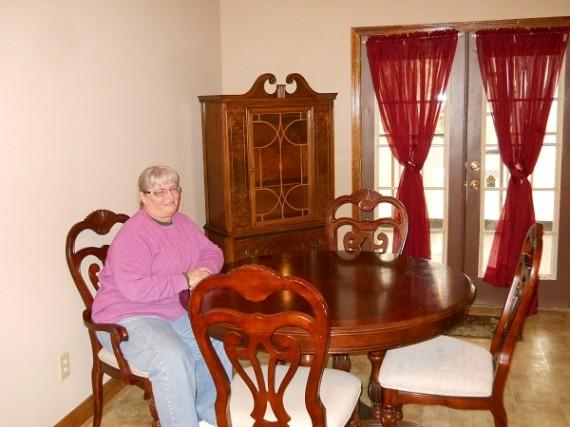 thrift shop finds, antigue dining room furniture