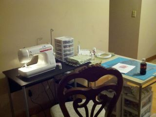 my sewing space, sewing room, crafting space