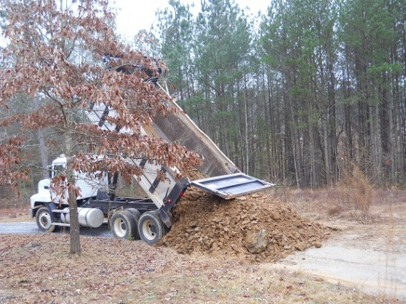 dumptruck load of slate for the driveway