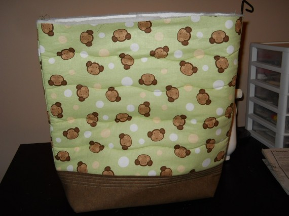 quilted diaper bag, sewing for baby