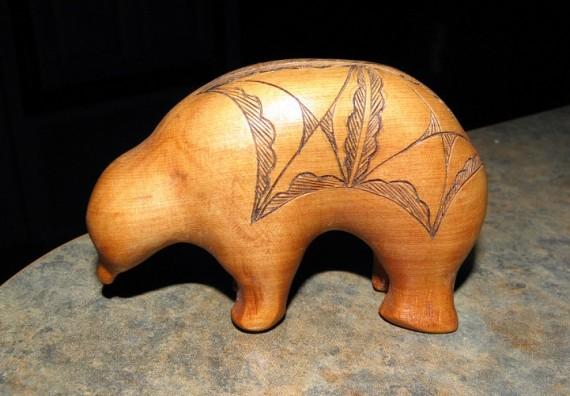 carved cedar bear