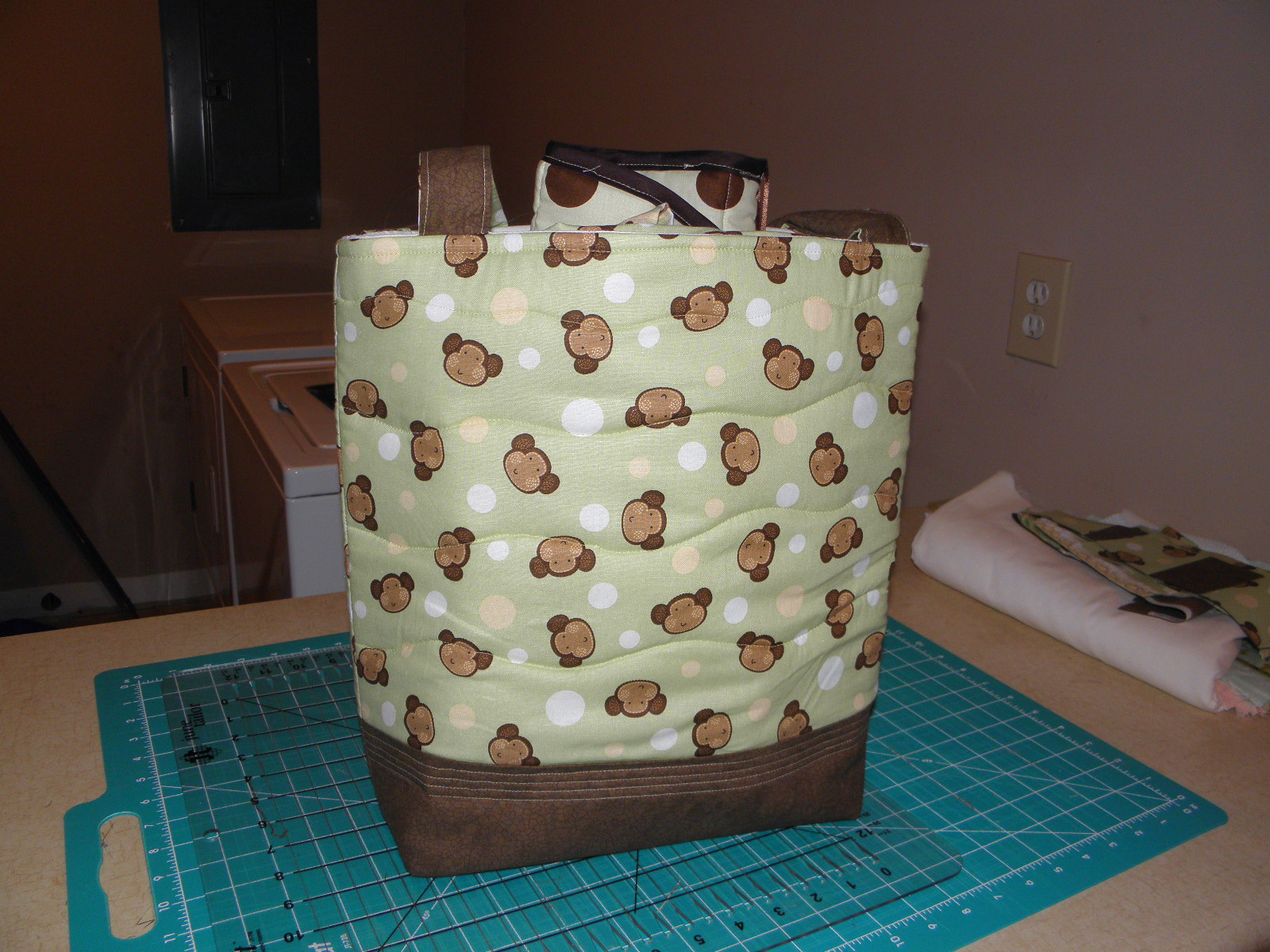 The Diaper Bag Is Finished, Now On To The Quilt
