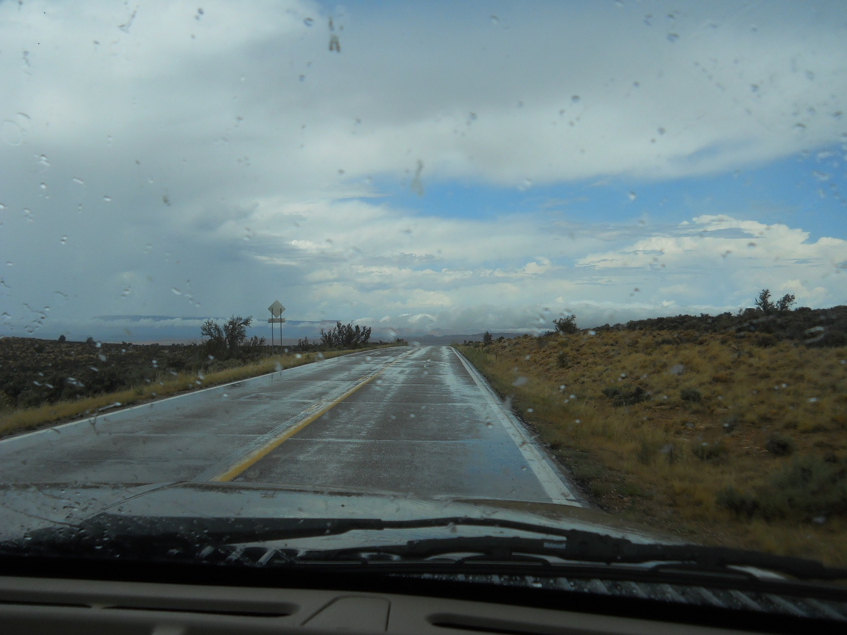 A Rainy Day Drive In The Desert