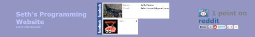 Seth's Programming Website