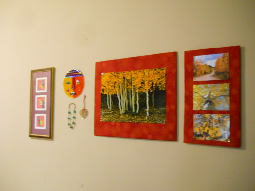 My dining room wal: Art that I love!