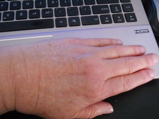After Applying L'Occitane Dry Skin Hand Cream
