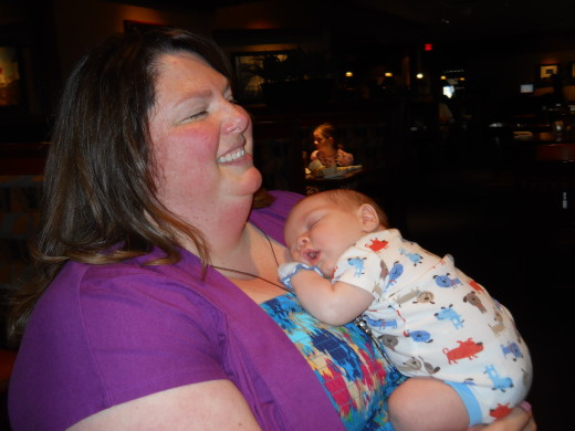 Aunt Becky with Parker