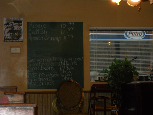 Daily Specials are posted on a chalk board
