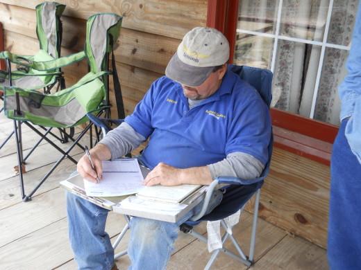 Dwayne adding up the estimate