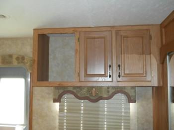 17 cabinet over the dresser