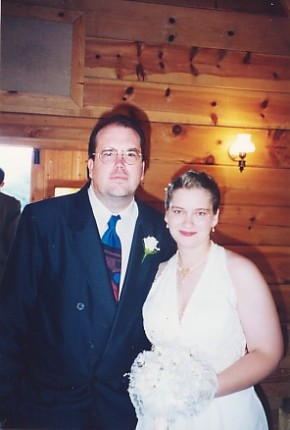 June 1997, Emily and Thomas's wedding