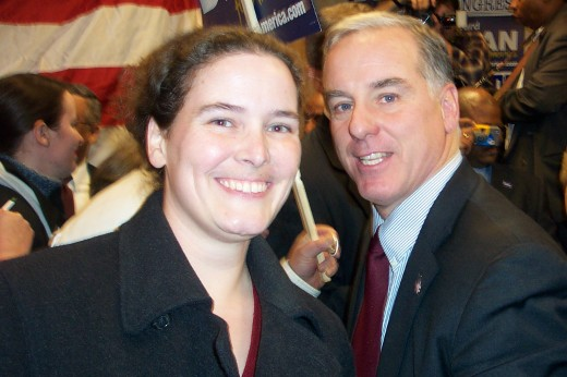 2003 12 07 rebecca with howard dean