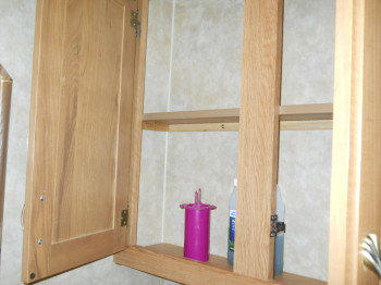25 potty room cabinet open