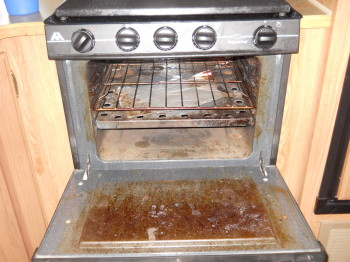 52 oven open need cleaning