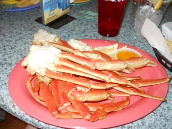 My crab leg dinner