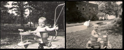 Me on the right in 1952, Fabgrandpa on the left in 1949