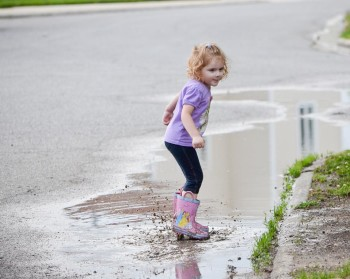 Stomping in puddles
