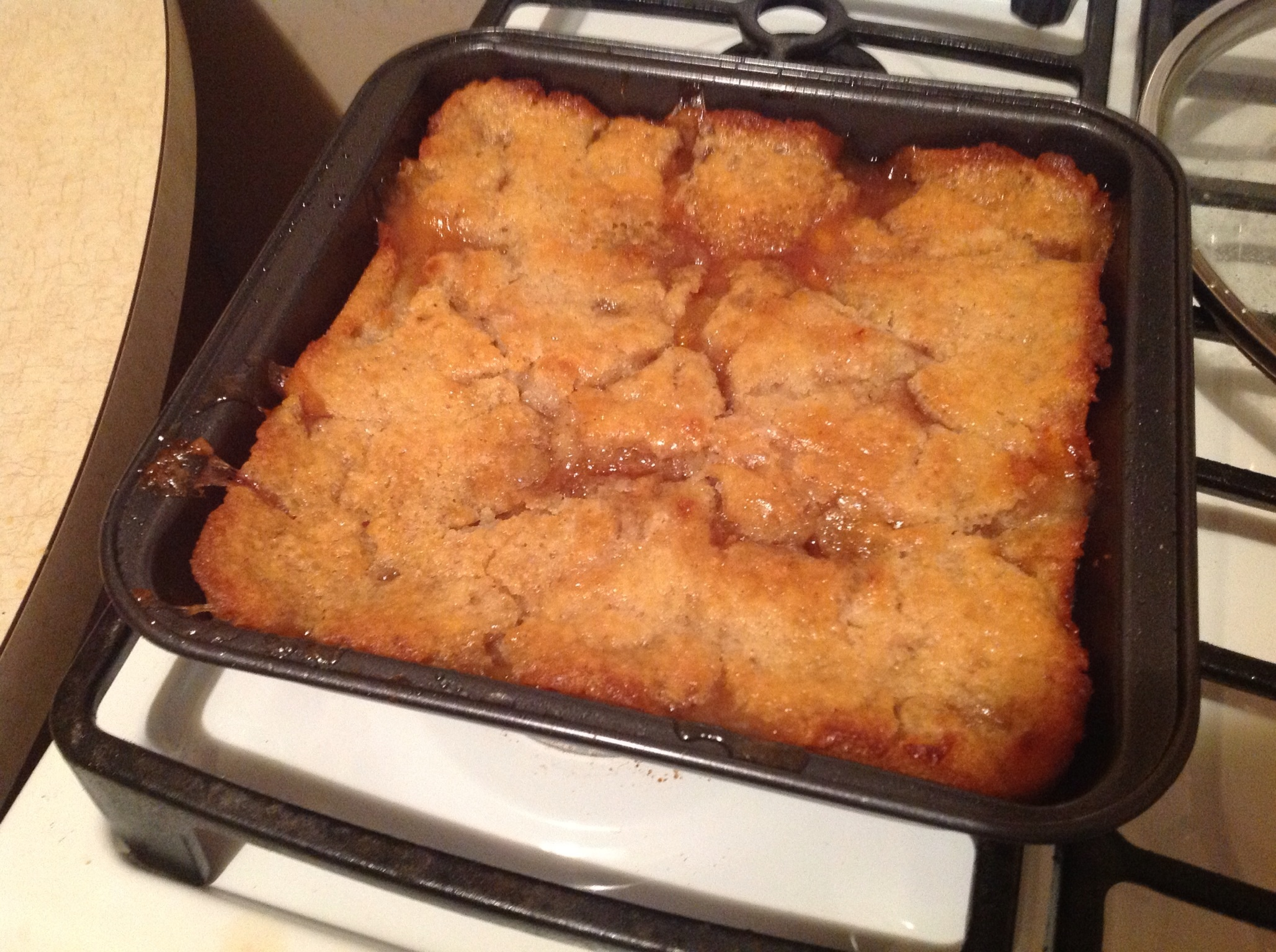 GlutenFree Homemade Peach Cobbler Recipe