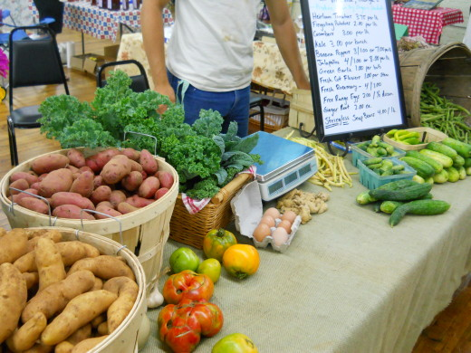 Lots of goodies at the Hembree Lane Farm booth