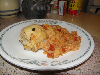 Chicken and Rice with Salsa
