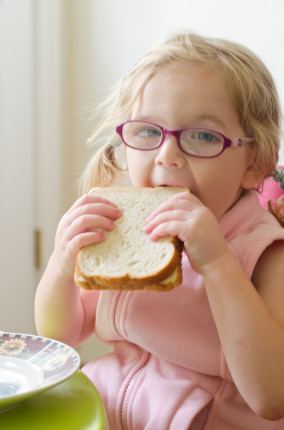amelia with sandwich