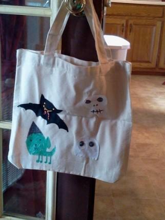 Spencer's finished Trick or Treat Bag.