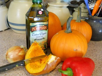 Getting ready to make my pumpkin and peppers side dish