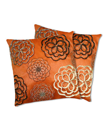 Covina Orange Down Throw Pillow