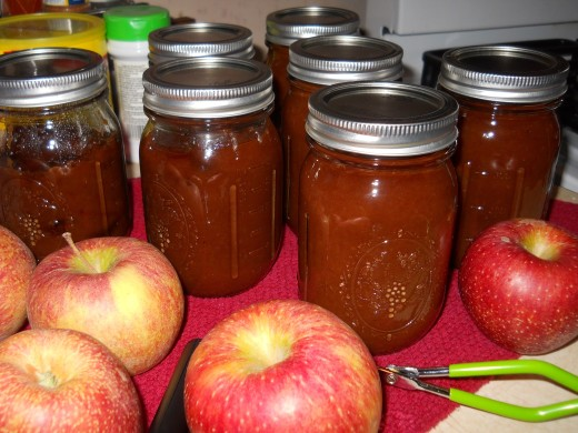 7 jars of apple butter for my troubles!