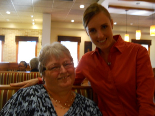 Me with Susan, the manager