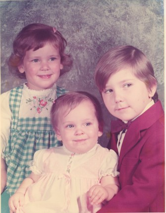 Seth, Becca, and Emily in 1976