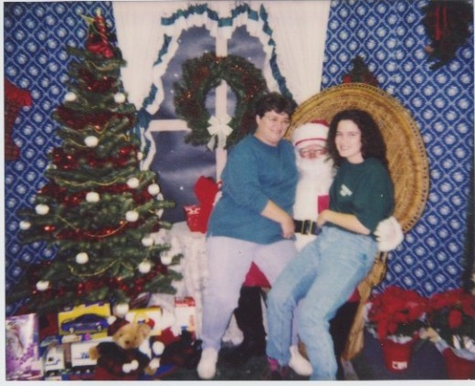 Me and Becca with Santa Claus in 1990