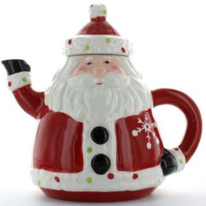 The Holiday Table: The Santa Claus Christmas Store Sweet Santa Teapot
